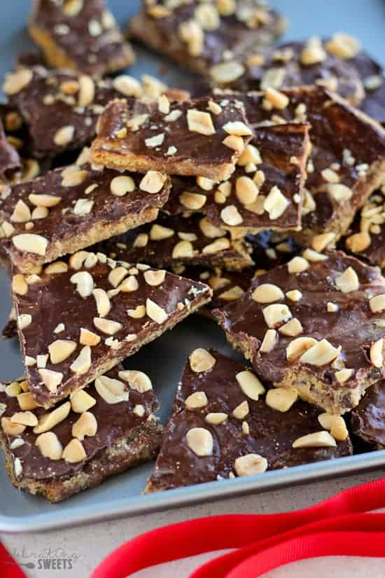 Chocolate Covered Peanut Butter Graham Crackers