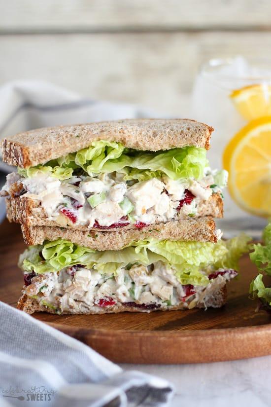 Cranberry Walnut Chicken Salad | Celebrating Sweets