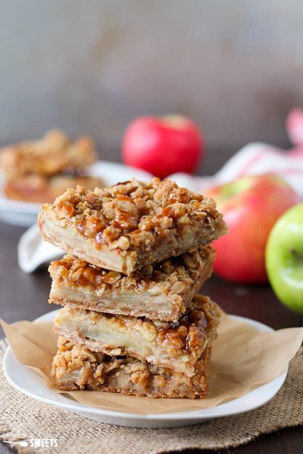 Apple Crumb Bars - A brown sugar oat crumble serves as both the crust ...