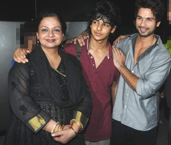 Shahid Kapoor Ruhan Kapoor Half brother and mother
