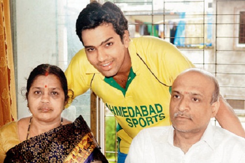 Photo of Rohit Sharma & his  Father  Gurunath Sharma