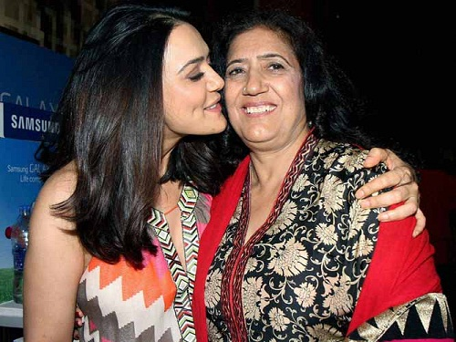 Photo of Preity Zinta & her Mother  Nilprabha