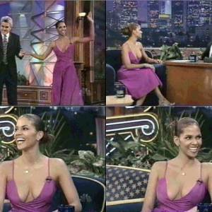 Halle Berry in The Tonight Show with Jay Leno