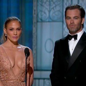 Jennifer Lopez in 2015 Academy Awards