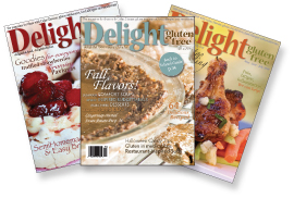 all three covers Give away: Gluten free Magazine Subscription