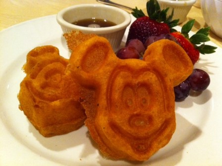 waffles Gluten free Character Dining at 1900 Park Faire at the Disneys Grand Floridian Resort and Spa