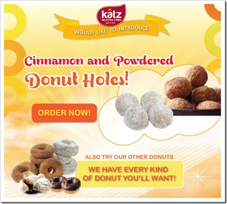 katzdonut thumb Katz Gluten Free Adds Powdered and Cinnamon Donut Holes