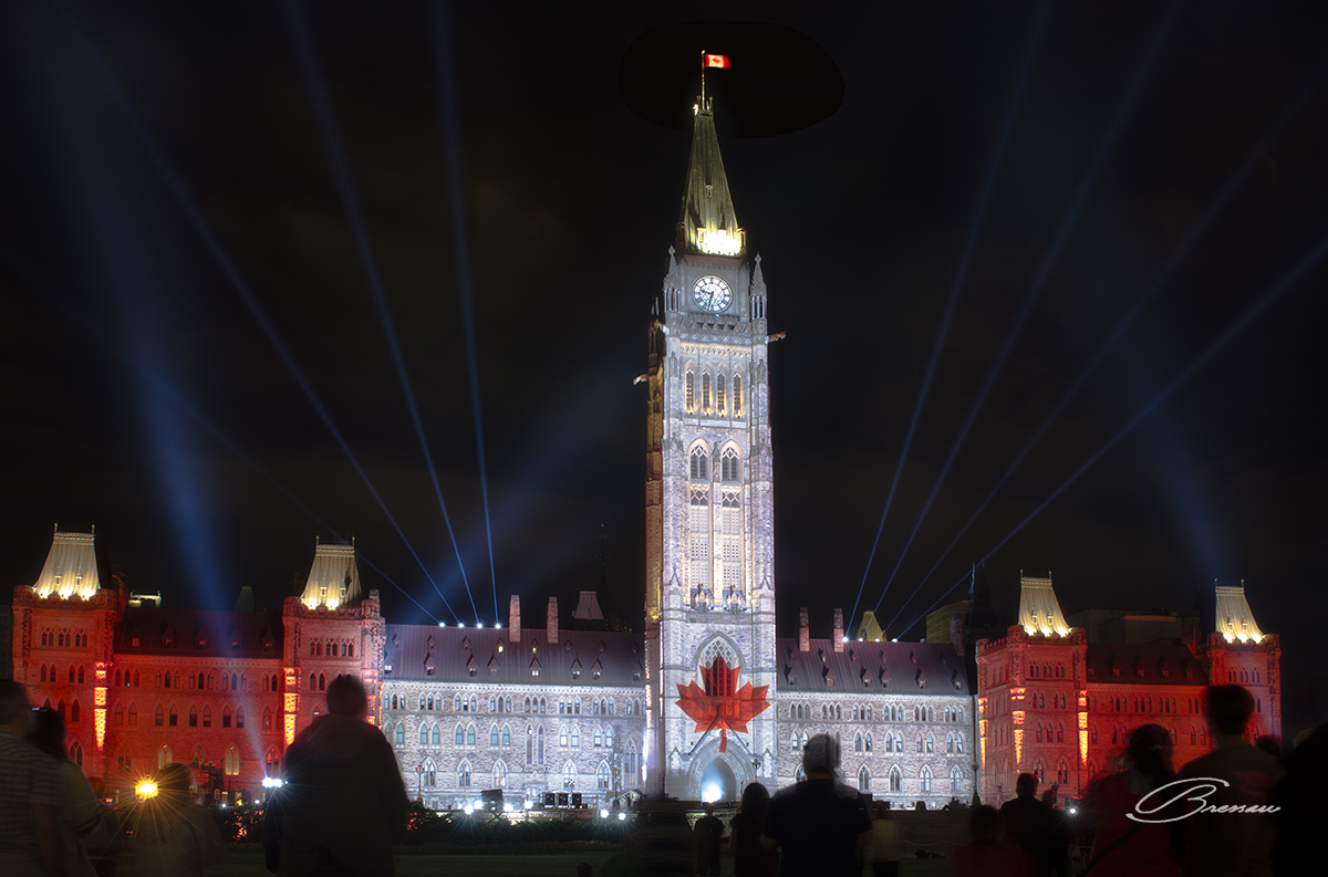The Show at the Parliament Hill, Ottawa, Canada, the moment the national anthem was being played.