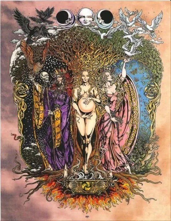 Triple Goddess Poster Print by Maxine Miller