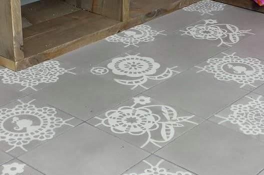 Cementtegels portugese tegels cementtegels for Tegel pvc imitatie tegel cement