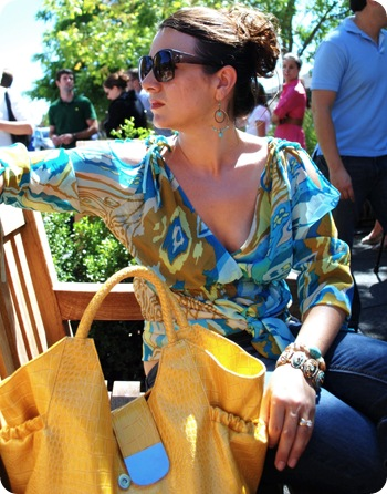 yellow handbag
