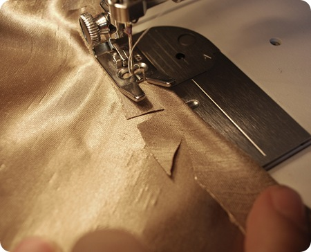 cut slits in fabric