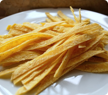 corn tortilla thin strips