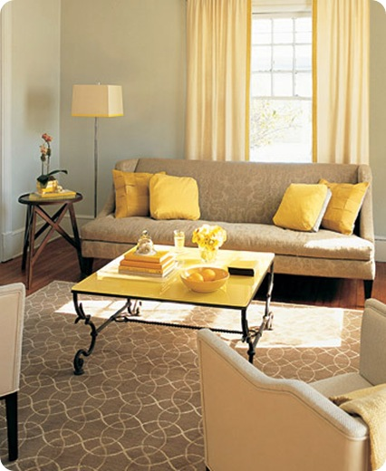 yellow accents martha stewart
