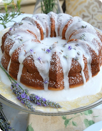 lavender cake on plate 2