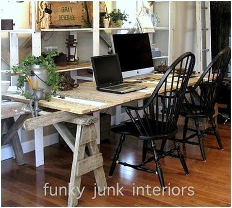 funky junk desk table