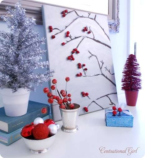 cg winter berries on canvas
