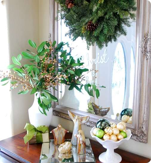 foyer greenery