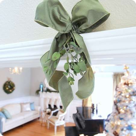 mistletoe hanging on doorway