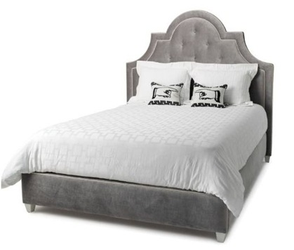 jonathan adler upholstered bed