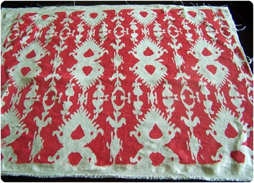 ikat painted fabric