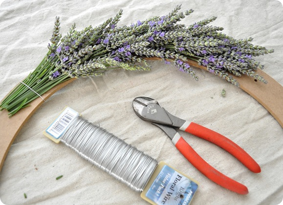 lavender wreath step 2