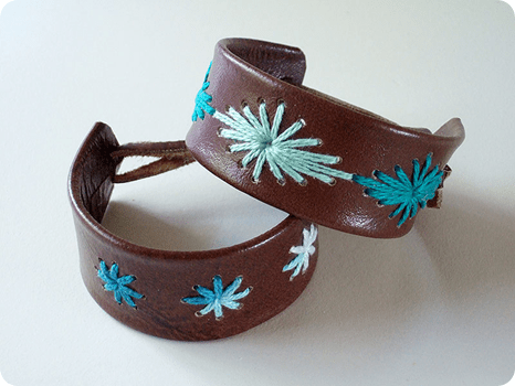 stitched leather bracelet craftynest