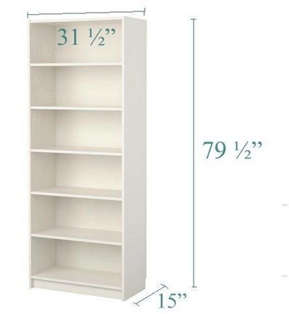 15 inch deep billy bookcase