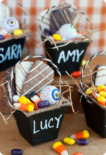 chalkboard treat baskets heather bullard