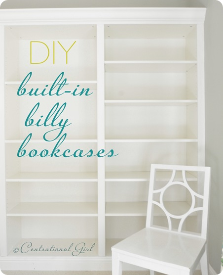 diy built in ikea billy bookcases