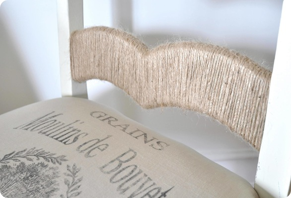 jute twine on chair