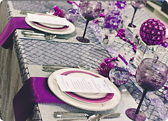 events that sparkle violet new years table