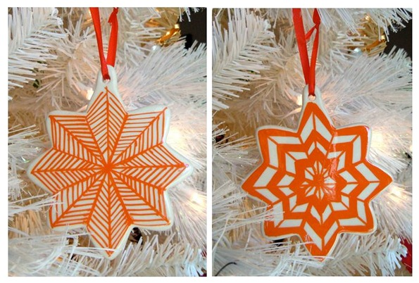 tangerine ornaments