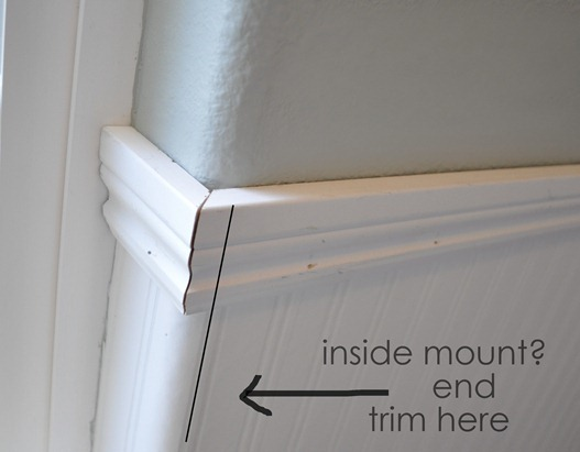 end trim for inside mount shade