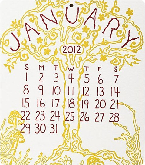 old school 2 letterpress calendar papersource