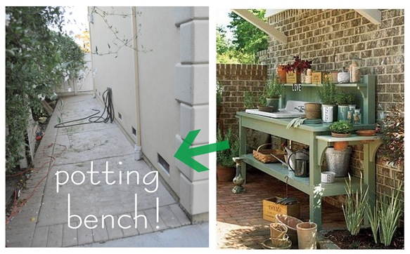 potting bench side yard
