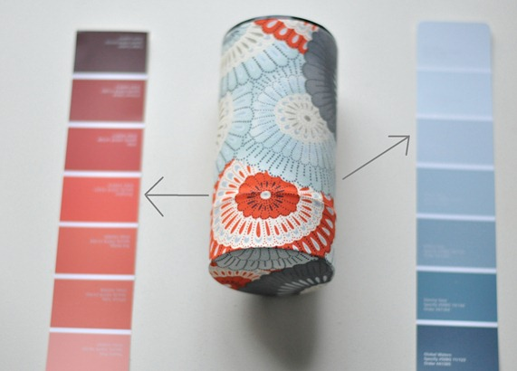 tea cannister paint swatches