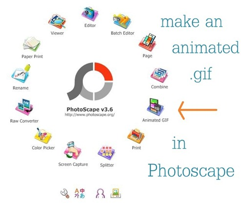 animated gif option in photoscape