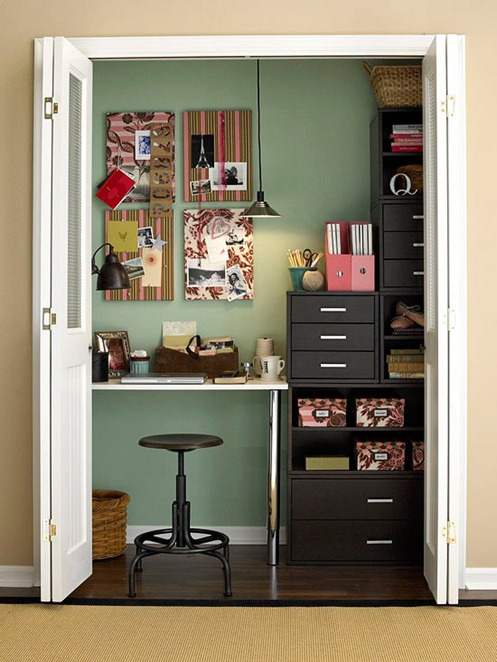 office in closet bhg