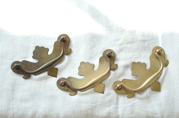 brass plated pulls