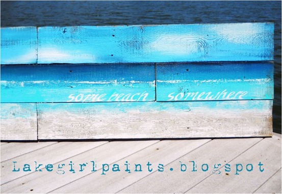 abstract beach art lakegirlpaints
