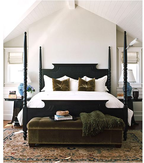 Ten things to hang above the bed centsational girl for Black four poster beds