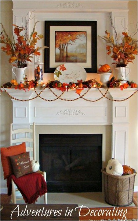 autumn mantel adventures in decorating