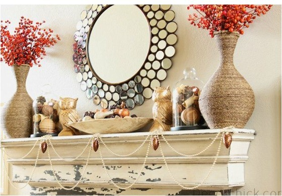 fall mantel decor chick