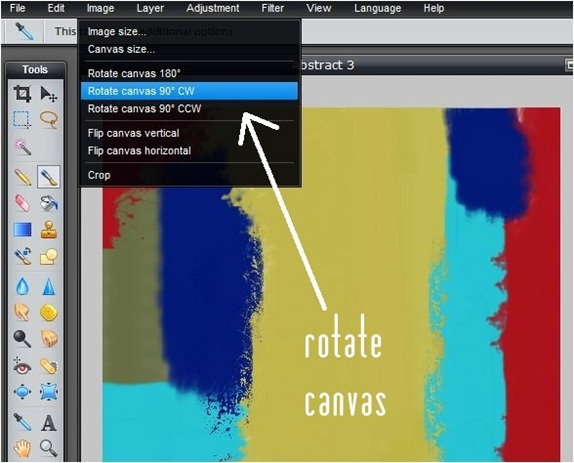rotate canvas to use brushes at different angles
