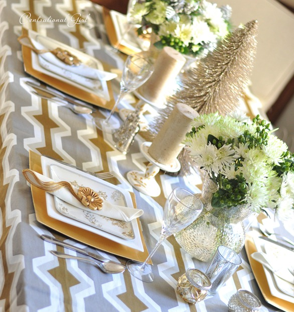 gold and silver table