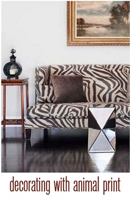 decorating with animal print