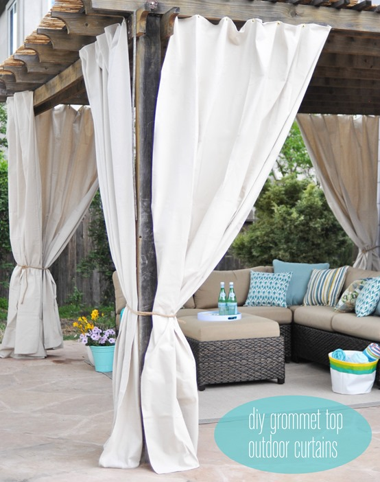 Curtains Ideas curtain grommets diy : One Day Outdoor Room Makeover | Centsational Girl
