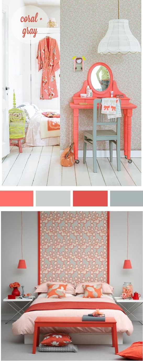 coral and gray palette