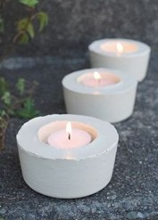 cement candleholders